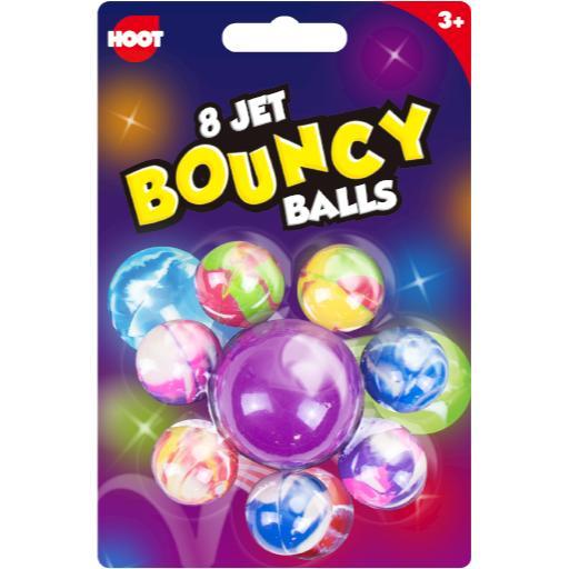 Hoot Jet Bouncy Balls - Pack of 8