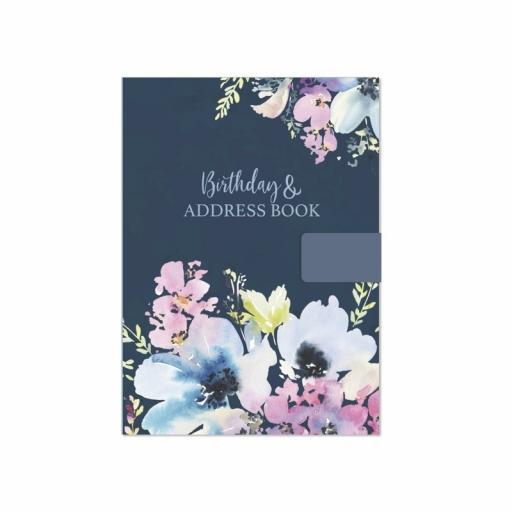 Tallon Floral Satin A5 Birthday & Address Book