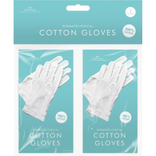 White Cotton Gloves - Pack of 2