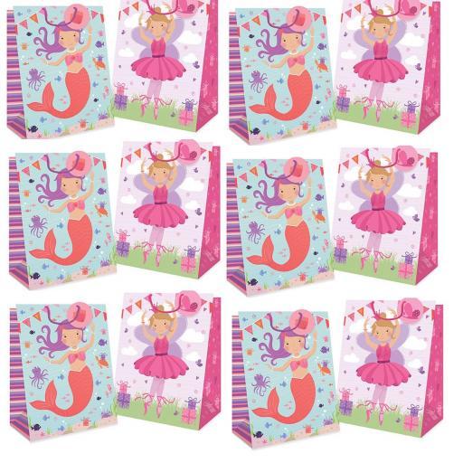 Tallon Gift Bags Girls Design, Large - Pack of 12