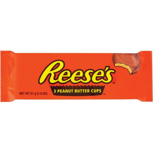 Reese's Peanut Butter Cups, Pack of 3 - 51g