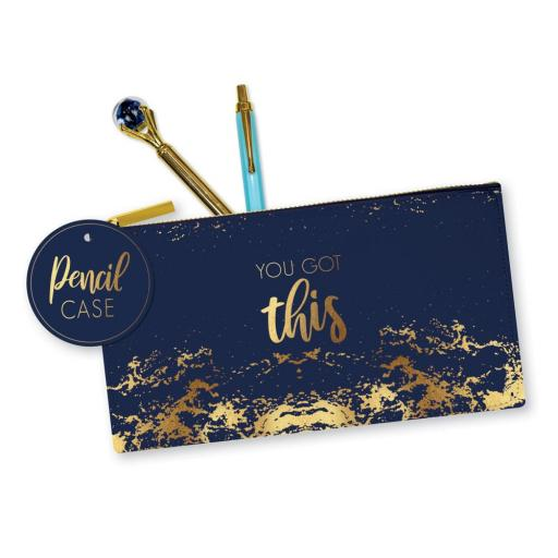 IGD Opulent Geo 'You Got This' Pencil Case
