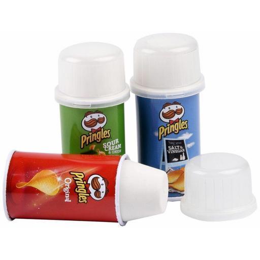 Pringles Metal Barrel Eraser - Assorted Colours