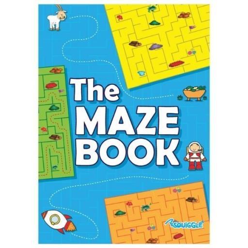 Squiggle A4 Maze Puzzle Book - Random Design