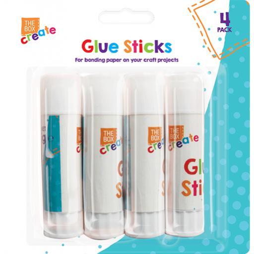 The Box Create Glue Sticks 15g - Pack of 4