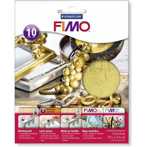 Staedtler Fimo Leaf Metal Gold - Pack of 10 Sheets