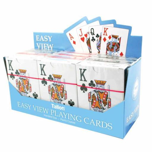 Tallon Easy View Playing Cards - Single Pack