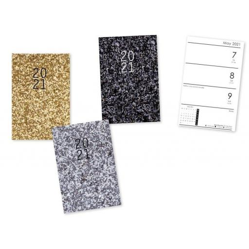 IGD Pocket Glitter 2021 Diary - Assorted Colours