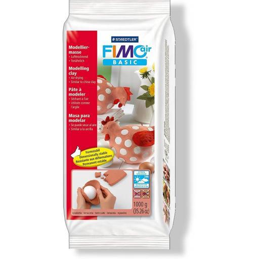 Staedtler Fimo Basic Air 1kg Block - Terracotta