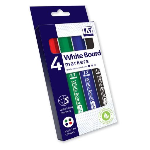 IGD Whiteboard Markers, Assorted - Pack of 4
