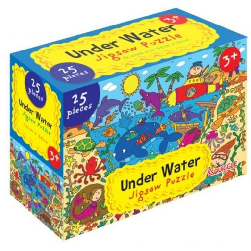 Squiggle Under Water Jigsaw Puzzle - 25 Pieces