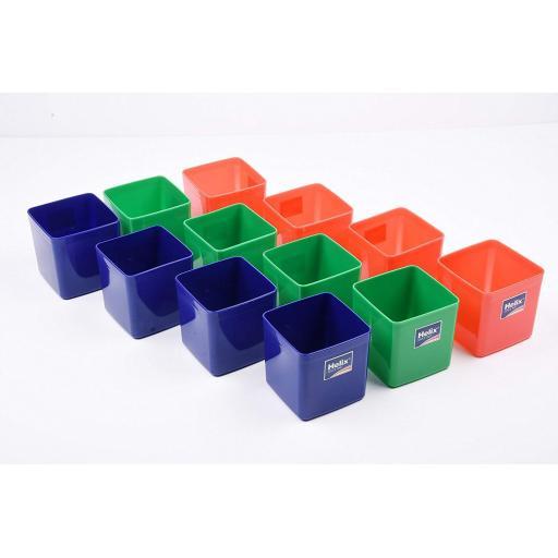 Helix Empty Pencil Pots, Assorted Colours - Pack of 12