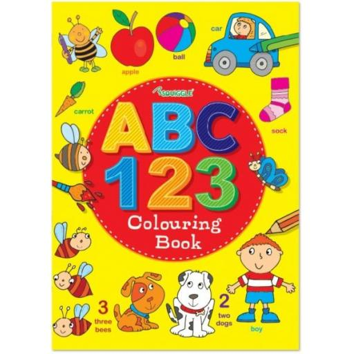 Squiggle A4 - ABC & 123 Colouring Book