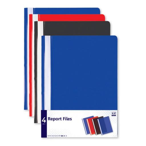 IGD Report Files, Assorted Colours - Pack of 4