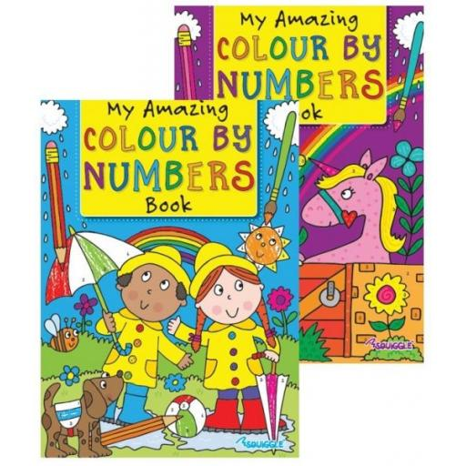 Squiggle My Amazing Colour by Numbers - Set of 2