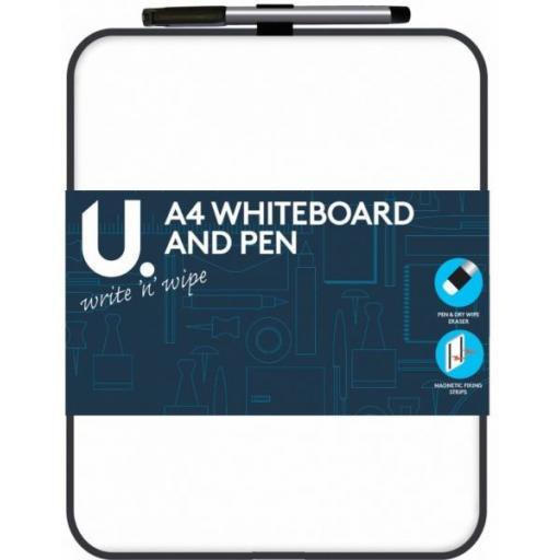 U. A4 Whiteboard & Pen + Magnetic Strip
