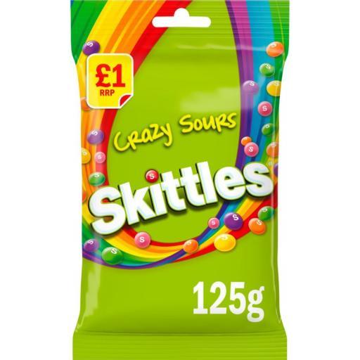 Skittles Crazy Sours 125g
