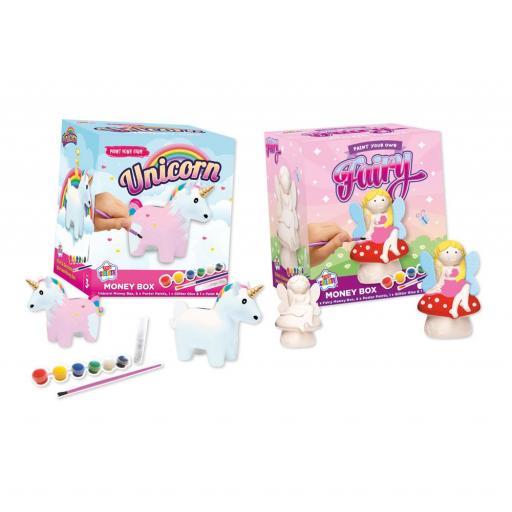 IGD Kids Create Paint your own Fairy/Unicorn Money Box