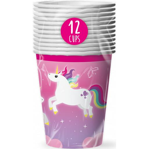 Pop Party Unicorn Paper Cups - Pack of 12