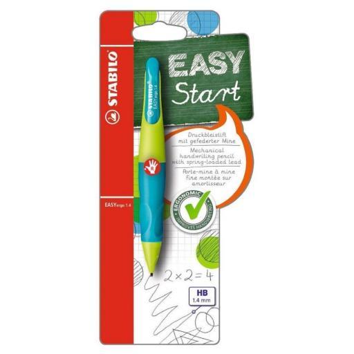 Stabilo Easy Ergo Right Handed Pencil 1.4mm - Lemon Green/Aqua