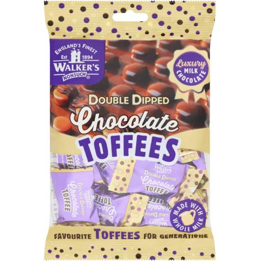 Walkers Nonsuch Double Dipped Chocolate Toffees 150g BBE 06/21