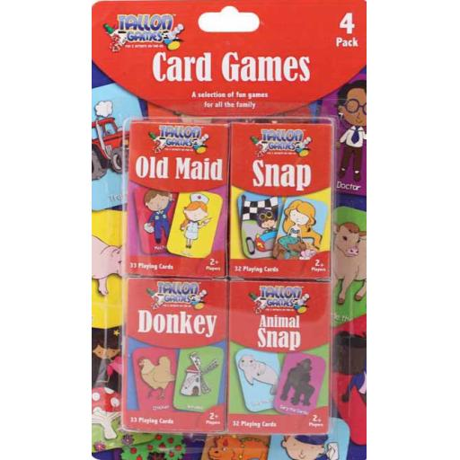 Tallon Card Games - Pack of 4