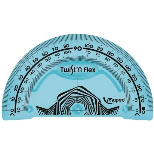 Maped Twist'n'Flex Protractor - Assorted Colours