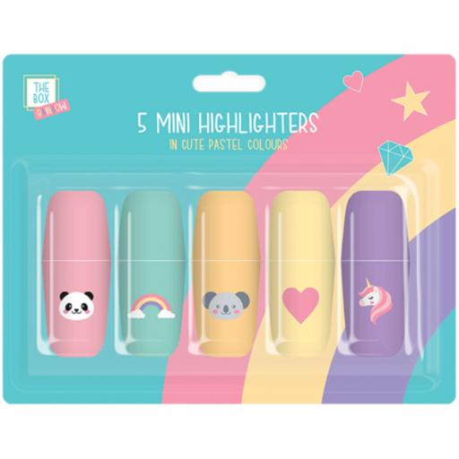 The Box Mini Pastel Highlighters - Pack of 5