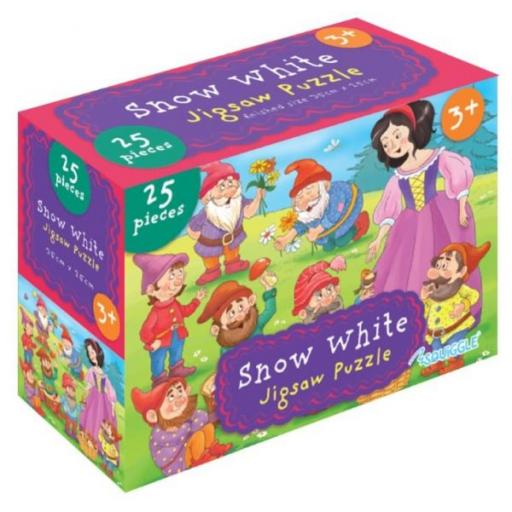 Squiggle Snow White Jigsaw Puzzle - 25 Pieces