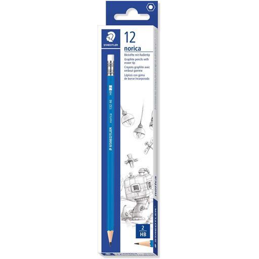 Staedtler Norica Eraser Tip HB Pencils - Pack of 12