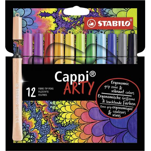 Stabilo Cappi Arty Fibre Tip Pens - Pack of 12