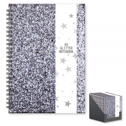 IGD A5 Wiro Glitter Notebook