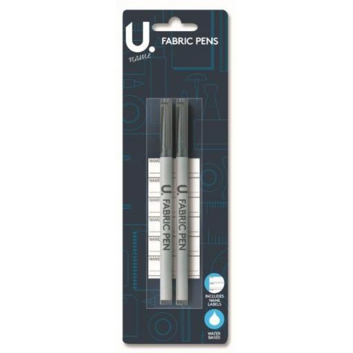 U. Fabric Pens + Name Labels - Pack of 2
