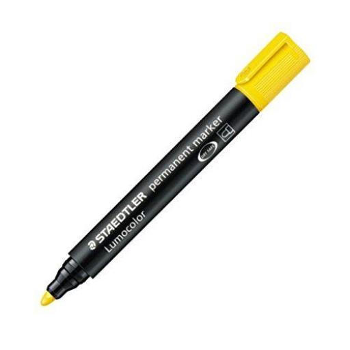 Staedtler Lumocolor Permanent Marker Bullet Tip - Yellow