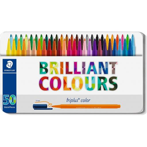 Staedtler Triplus Color Pens - Tin of 50