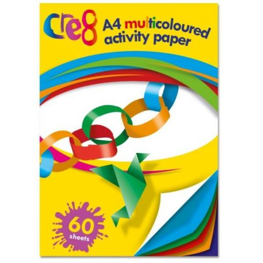 Cre8 A4 Multicoloured Activity Paper - 60 Sheets