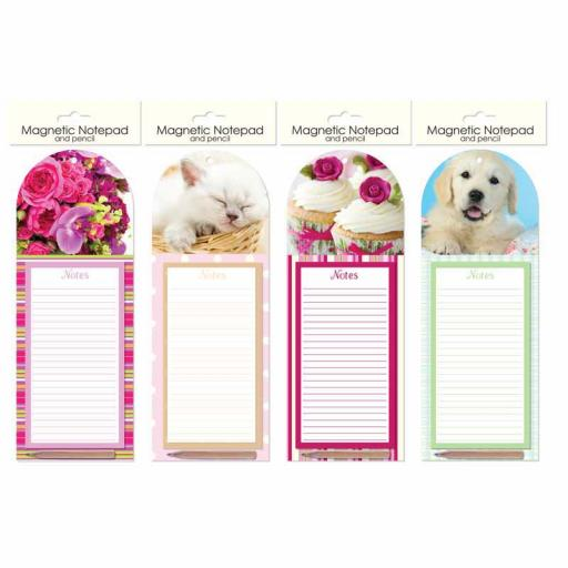 Tallon Magnetic Notepad & Pencil - Assorted Designs