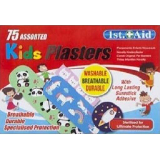 PMS 1st Aid Childrens Plasters, Asssorted - Pack of 75
