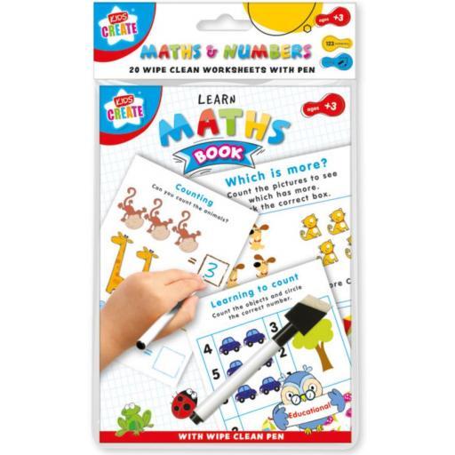 Kids Create A5 Wipe Clean Learning Book - Maths