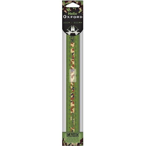 Helix Oxford Camo 30cm Folding Ruler - Green