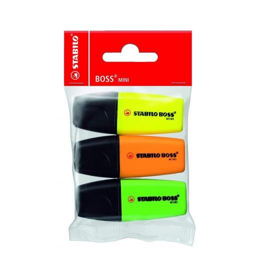Stabilo Boss Mini Highlighter Pens - Pack of 3 (YOG)