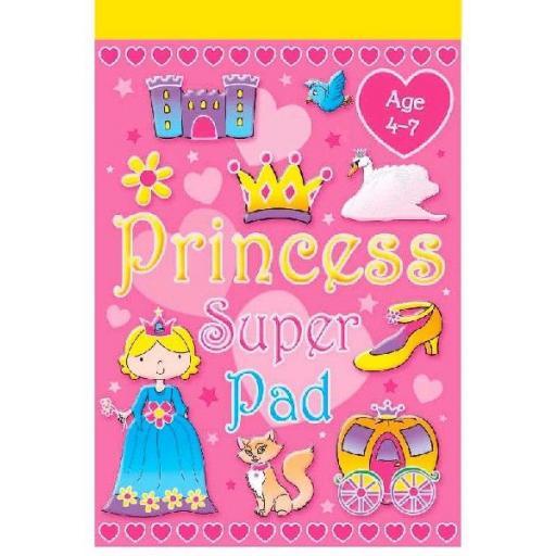 Brown Watson Age 4-7 A5 Princess Super Pad