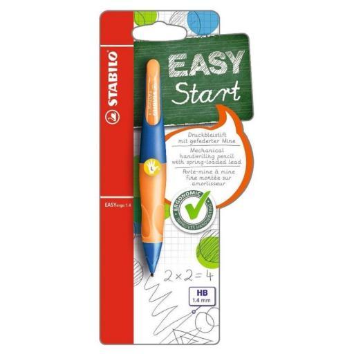 Stabilo Easy Ergo Left Handed Pencil 1.4mm - Ultramarine/Orange