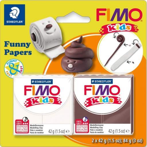 Staedtler Fimo Soft Block Funny Papers 2 Block Set