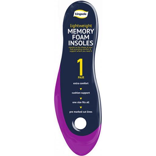 Kingsole Memory Foam Insoles - 1 Pair