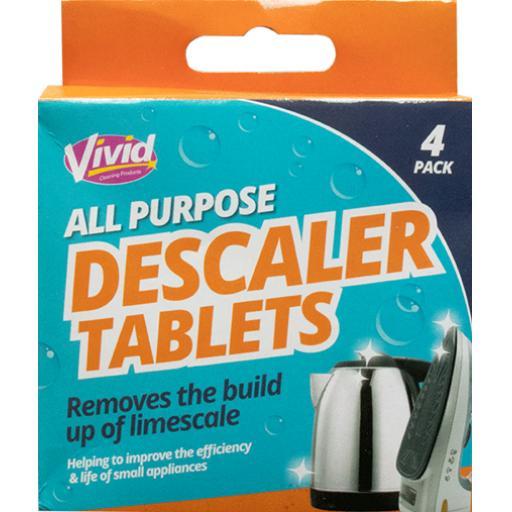 Vivid All Purpose Descaler Tablets - Pack of 4