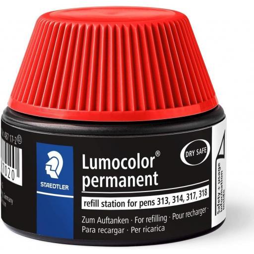 Staedtler Lumocolor Permanent Ink Refill - Red