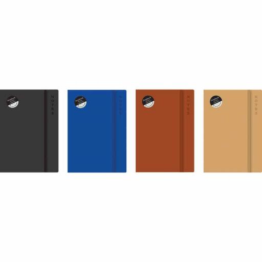 Easynote A5 Soft Touch Notebook Rustic - Assorted Colours