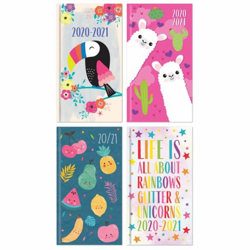 Tallon Slim WTV Academic Diary 20/21 Assorted Designs