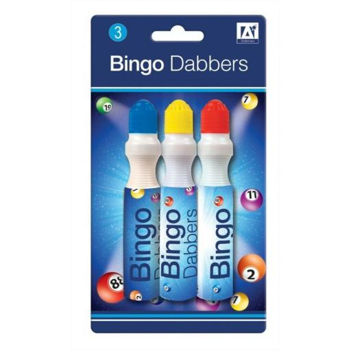IGD Bingo Dabbers, Assorted Colours - Pack of 3